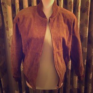 Jackets & Blazers - Pella Petites Leather Bomber Jacket